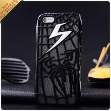 New arrival lightning Hollow out Spiderman hard case for iphone 5