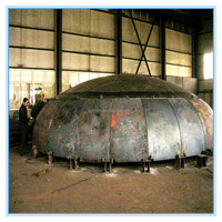 welding forming steel elliptical section tank dished heads cover dome end cap for boiler