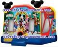 Venda quente do mickey mousel jumpers para crianças, bouncer inflável com slide, inflável combo