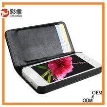China supply business style mobile phone leather cover for iphone 5s