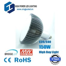 High quality 150W Led high bay light E40 Replace 400W metal halide lamp 3 years warranty AC90-275V