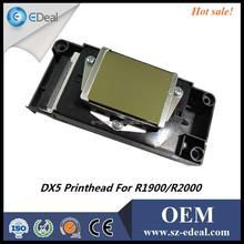 Wholesale price ! Glod surface F186000 DX5 printer head for Epson R1900 print head