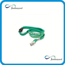 Newest factory usb connected imprint satin lanyards