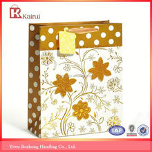 Popular for the market factory supply red christmas paper gift bag