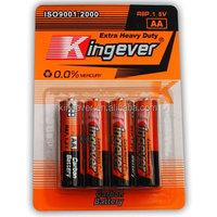 r6 Zinc carbon battery 1.5v um3 battery aa size battery