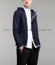 snap navy casual style wool jacket men