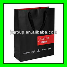 custom desing printed logo art paper black gift bag for Halloween