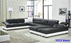 Hot Sale Modern big white U-shaped genuine leather round Corner Sofa