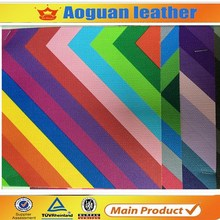 2016 hot selling high grade rainbow style pvc leather for fashion shoe