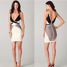 High quality elegant women sleeveless with knee-length ladies sexy dress women dress