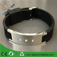 100% Silicone Rubber wristband Sport Germanium, Titanium, Negative Ions band