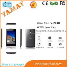 "online shopping india 4""sc7731 quad core 3g 2g dual sim wifi gps lollipop smart phone, lot of mobile phone cheap, celular phones"