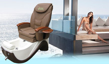steel frame pu top patient chair luxury white spa chair 2012 with remote control