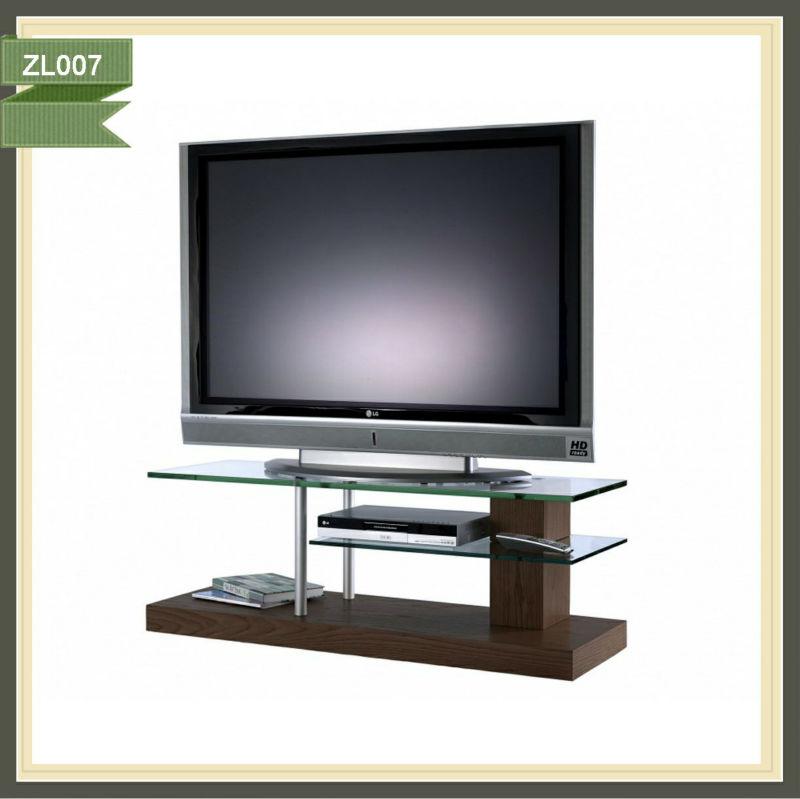 Más barato tv moderno de vidrio de mesa