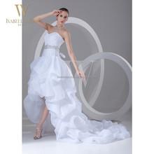 Alibaba long tail sexy high-low wedding dress