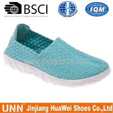 China factory casual shoes new design bright woven shoes for men