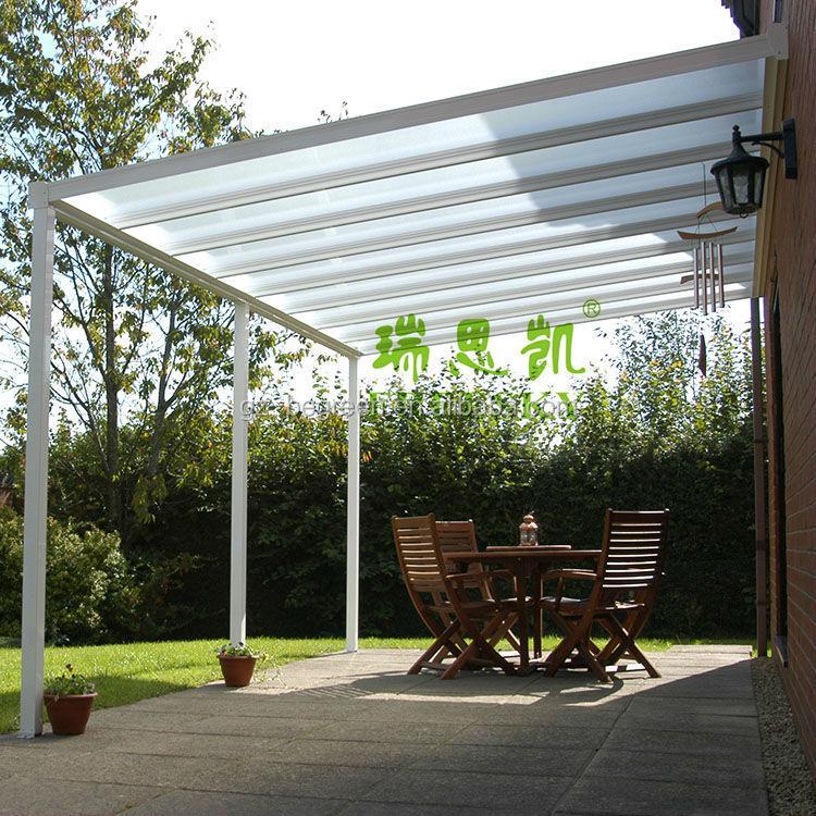 Freesky outdoor garden plastic gazebo view clear plastic gazebo begreen fre - Pergola aluminium polycarbonate ...