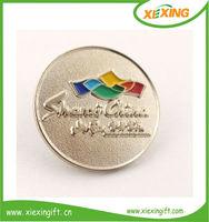 2014 custom zinc alloy soft enamel metal christmas emblem