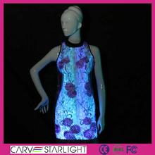 LED optic fiber luminous fabric traditional chinese dress qipao lace cheongsam