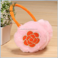 Whosale Winter Ear Warmers Earmuffs flower plush warm Ear Muff