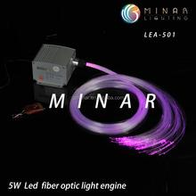 new products 12v round rgb mini fiber optic led light engine