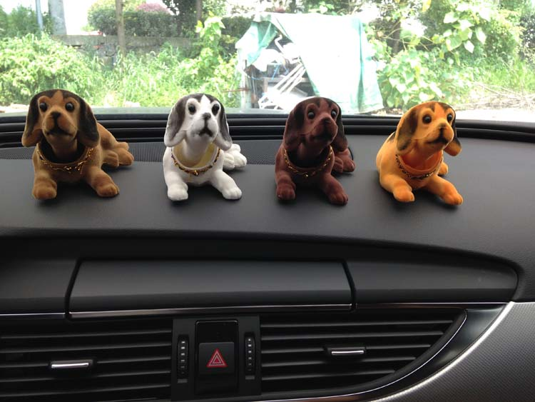 780 Cute Dogs 4pcslot Doll Car Interior Ornaments Accessories