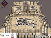 3D design famous brand reative printed bedding set 4 pieces set