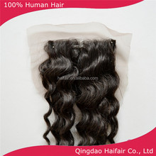 Afro women style top lace closure deep wave natural black color size 4x4 qingdao human hair supplier