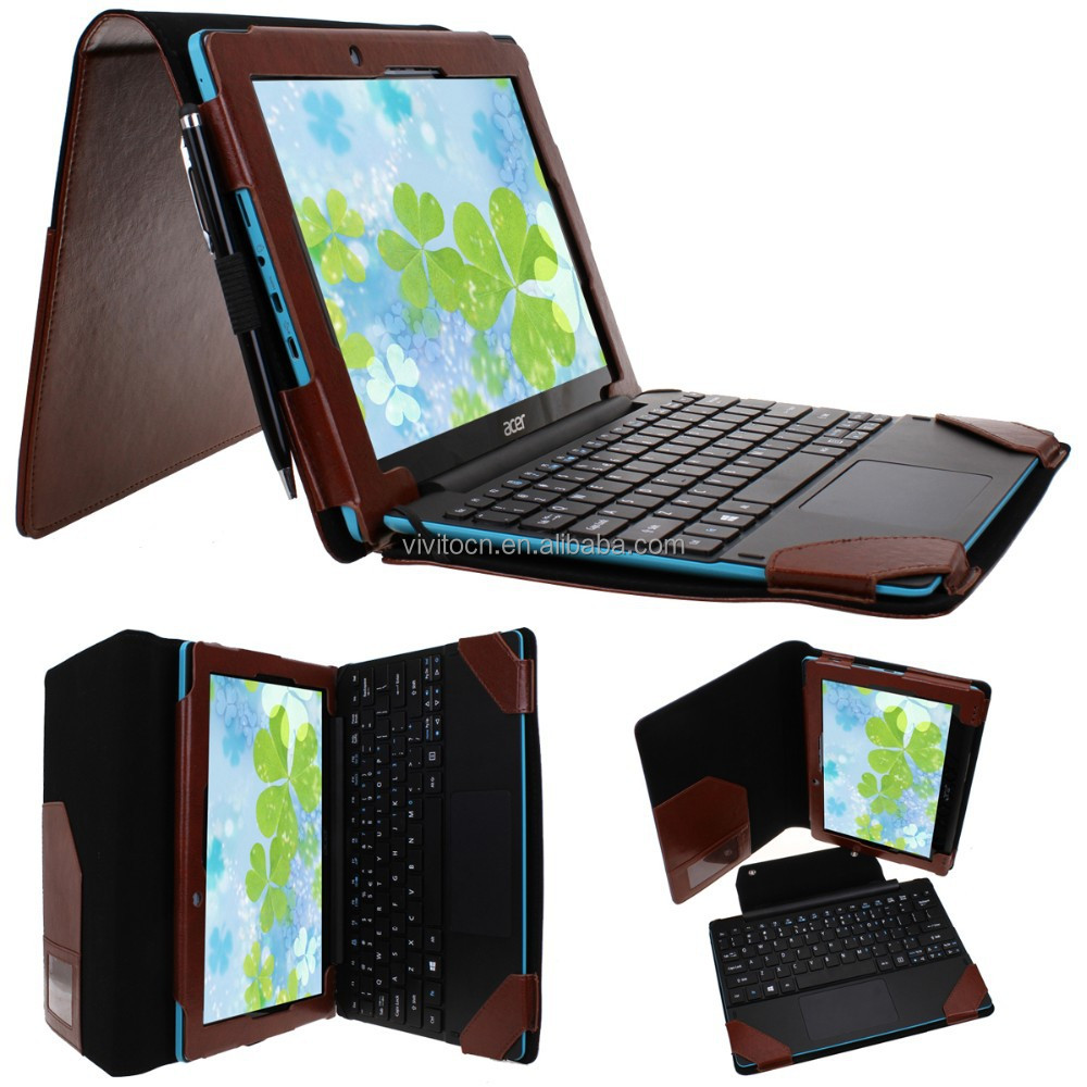 For Acer Switch 10e 10.1 Inch Tablet Protective Leather Keyboard Case ...
