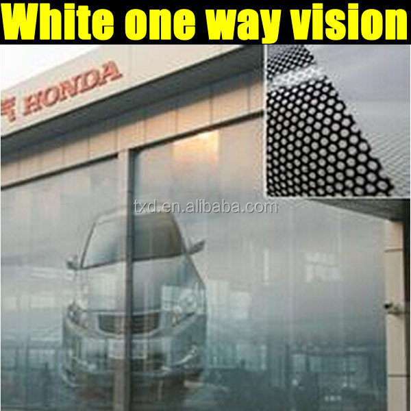 One way vision film perfor verre autocollant fen tre for 1 way window film