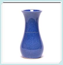 Handmade blue bouquet flower vase