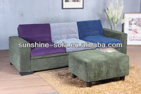 Adjustable Sectional Sofa Bed with Stool