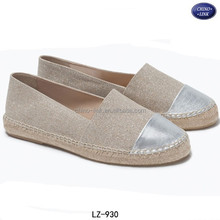 Jute sole canvas upper alpargata 2015 women espadrille shoes