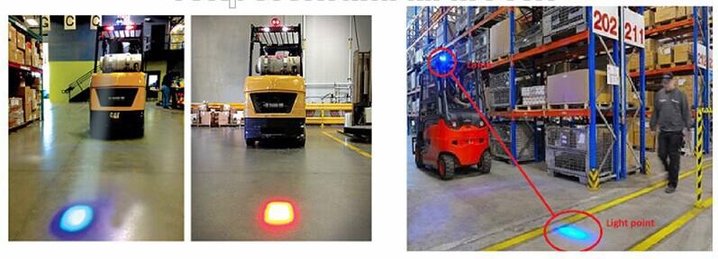 Cree Forklift Led Blue Safety Light Forklift Blue Led Warning Spotlight Cree Led Work Light Blue