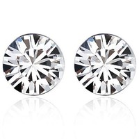 Hot Sale Rhodium plated 7 days stud earrings Made with Swarovski Elements