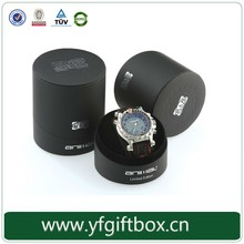 Deluxe high quality paper box watch packaging round cardboard custom design watch box packaging