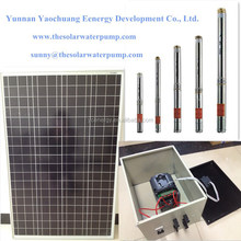 Flow rate 1000L/H head lift 150m home use deep well submersible solar water pumps