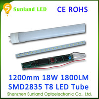 China supplier AC85-265V 1200MM SMD2835 CE ROHS 4ft free japanese tube 18w