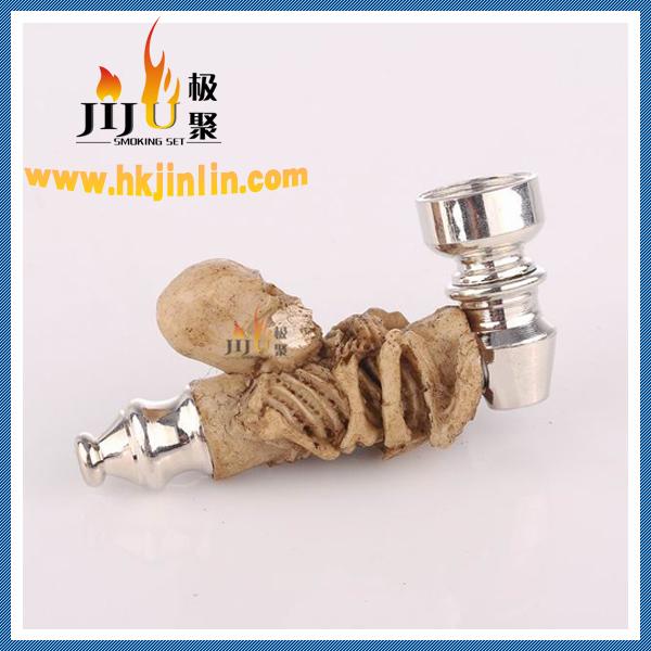 진기 장식 멋진 독특한 chillum 에로틱 한 인형, 수지 아연 금속 흡연 파이프 jl-032