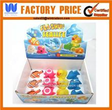 Vinyl bath animal set 4pcs/rubber clown fish/octopus/duck/dolphin