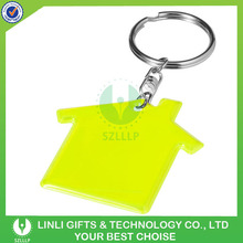 House custom shape and design promotion PVC reflector key tag