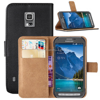 PU Leather Wallet Case Cover For Samsung Galaxy S5 Active