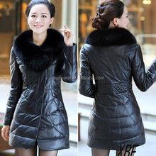 SL003 New&Long Style Ladies' Sheepskin Leather Coat