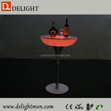 Plastic battery power night club lighting illuminated led table/ led tv table/ high top cocktail tablesled cocktail table