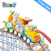 plush fabric train set ,soft material ,safety and non-toxic OEM factory HX7120