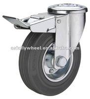 45 European type steel core gray rubber caster bolt