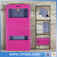 2014 Luxury Glitter PU Wallet with Two Open View Window For Samsung Galaxy S4 leather mobile phone case