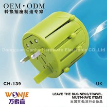 Made in China travel adapter plug with USB applicable all over the world