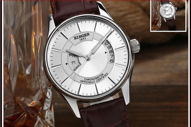 Высочайшее Качество Бингер Новая Мода Черный Циферблат сталь Ремешок Мужчины Смотреть Hollow Автоматические Механические Часы наручные часы оптовая цена