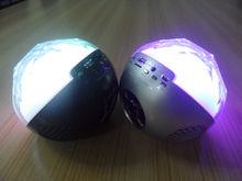 ball bluetooth speaker with fm radio usb and flash led light